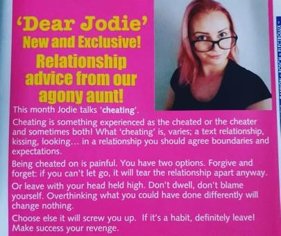 Dear Jodie- Cheating