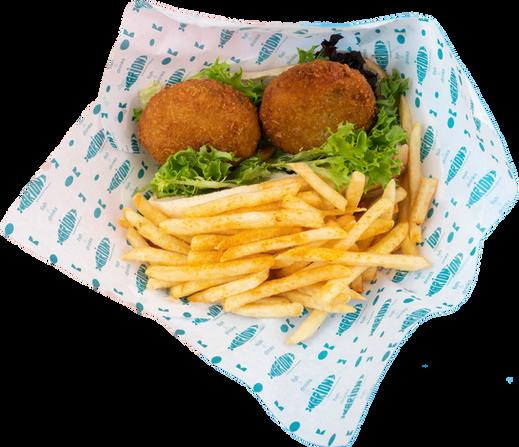 fish sandwich & fries