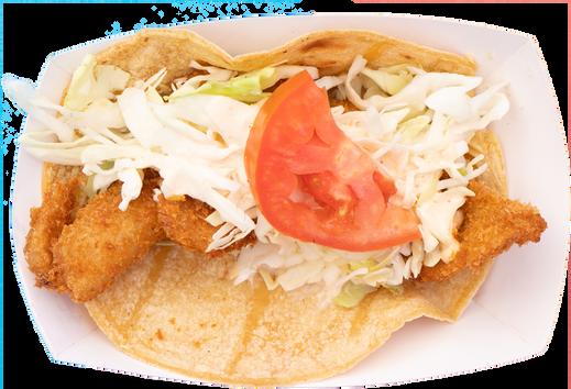 fried white pollock taco (1 pc)