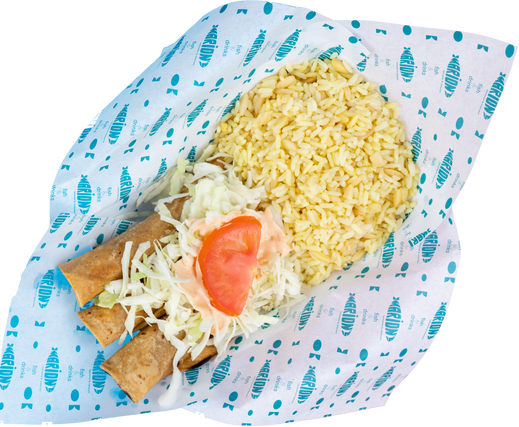 rolled fish tacos