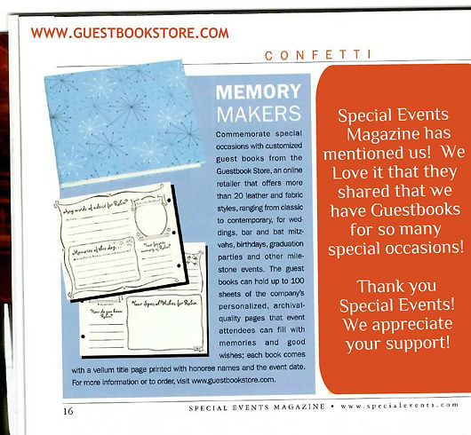 Guestbookstore.com featured in Special Events Magzine!