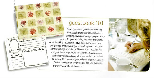 """Guetbookstore.com """"Guestbooks 101"""" featured article"""