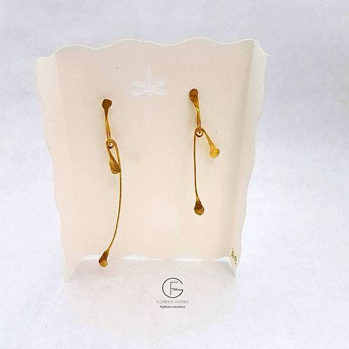 Boucles d'oreilles tiges mobiles