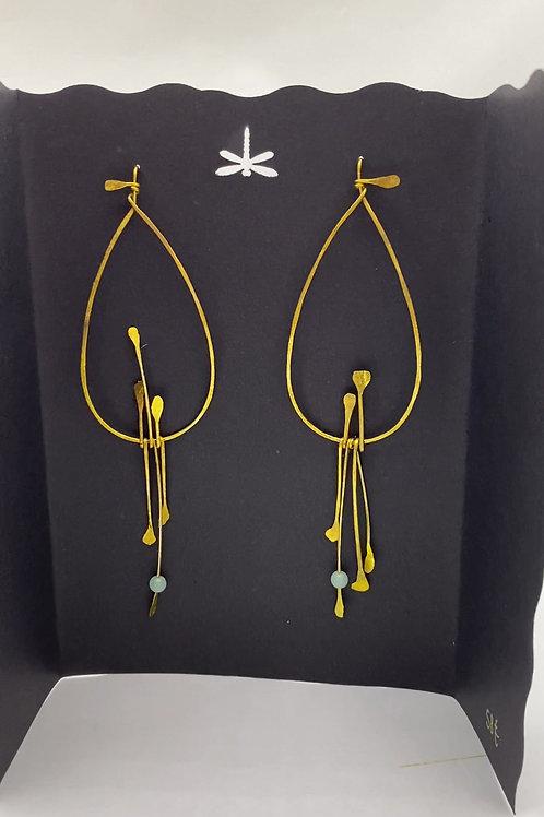 """Boucles d'oreilles de la collection""""Le petit oiseau sur la branche"""""""