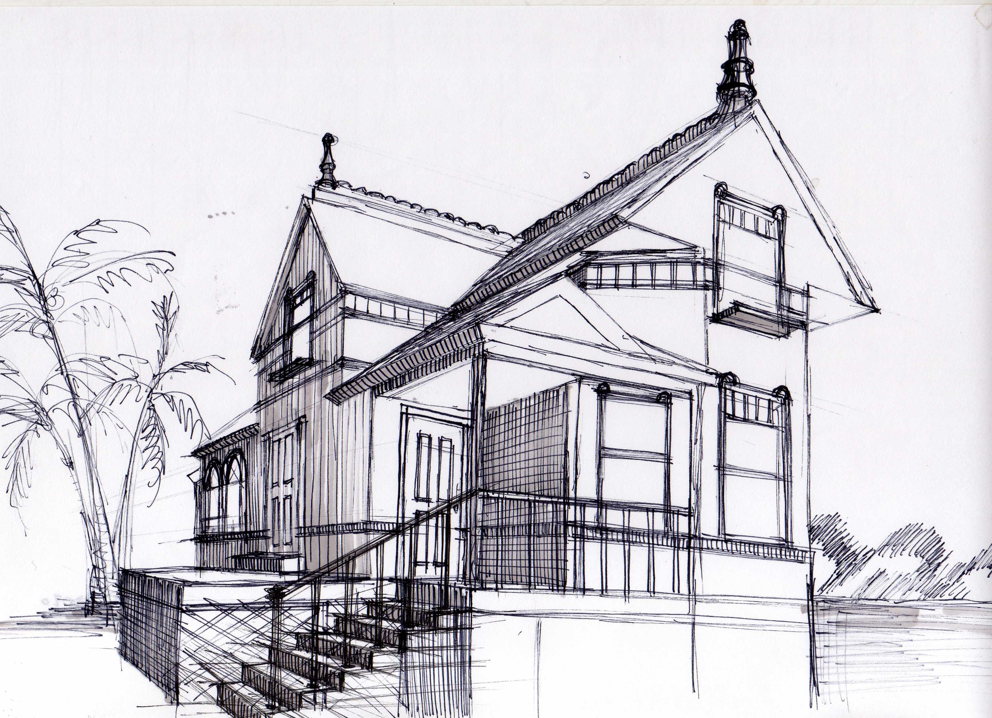 House Exterior - Hand Sketch