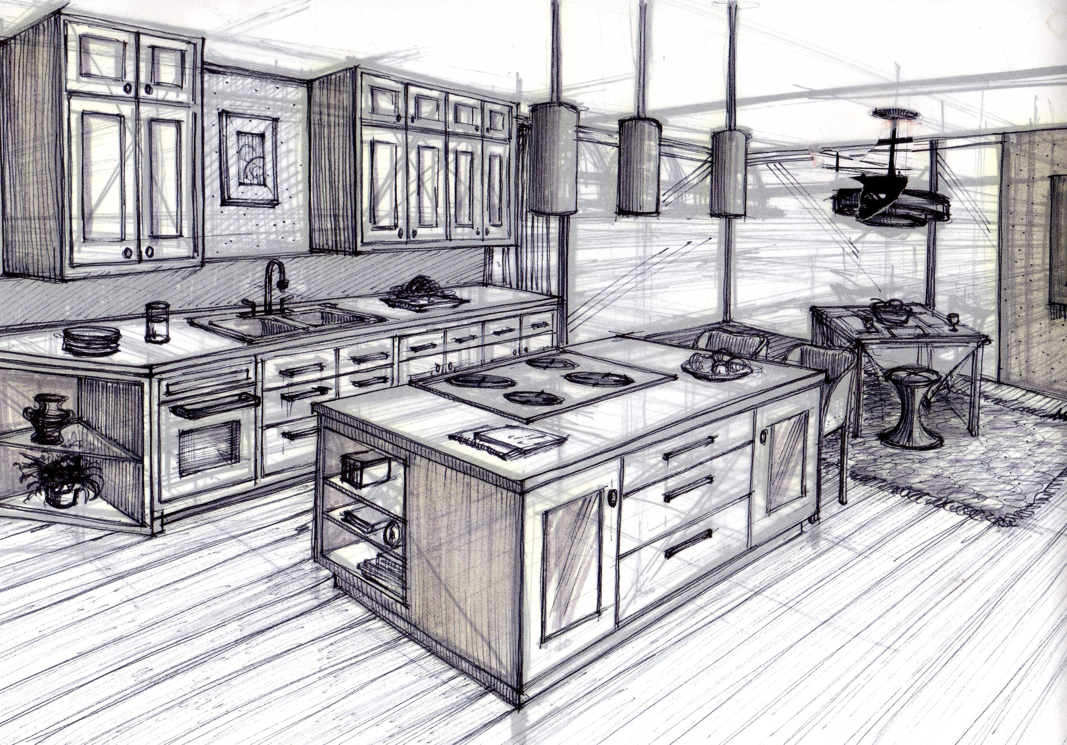 Kitchen Design - Hang Sketch