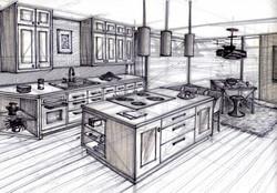Kitchen Design - Hang Sketch