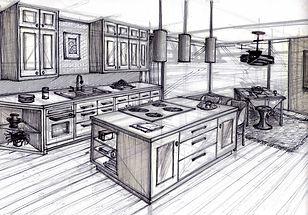 Kitchen Design   Hang Sketch