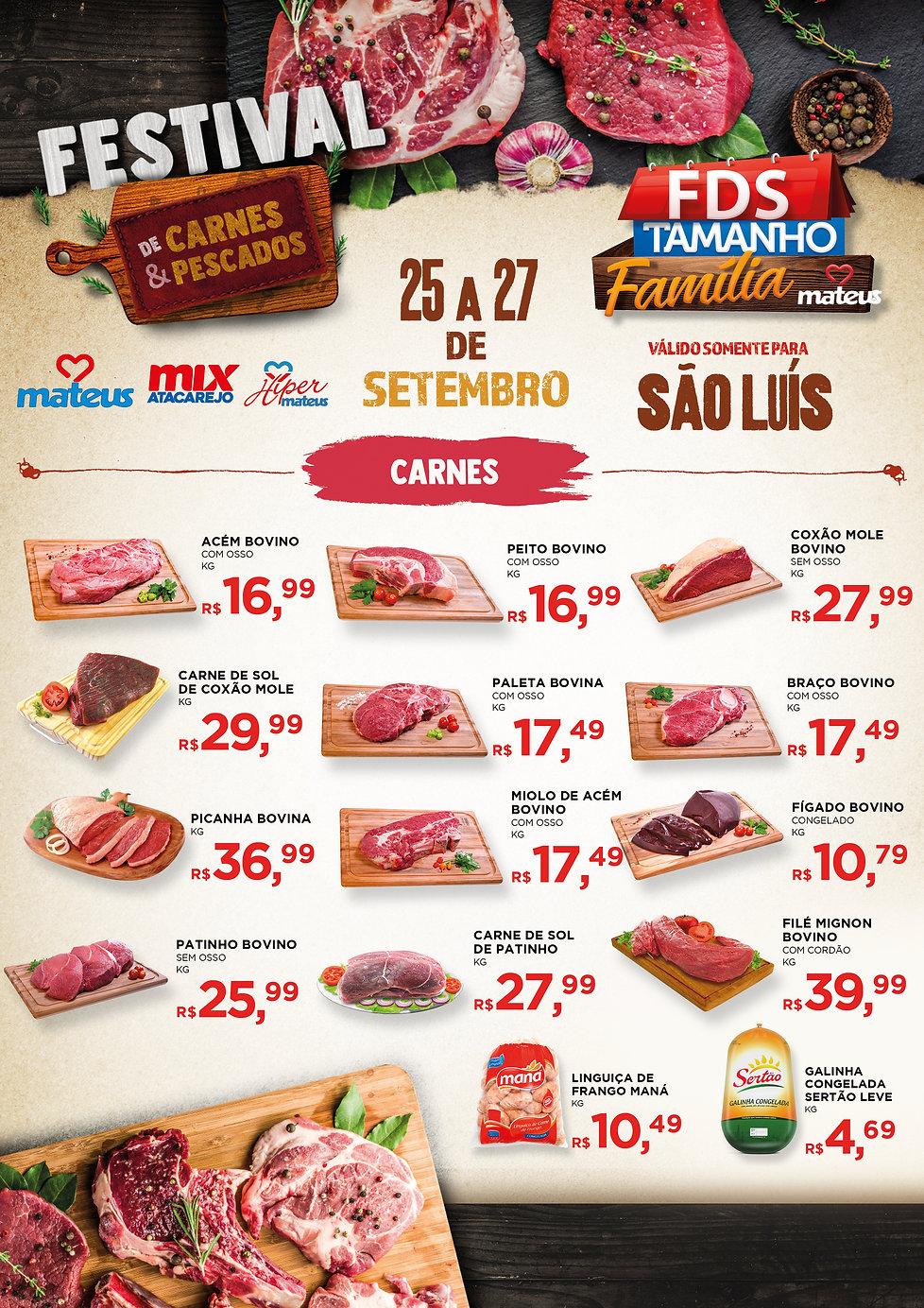Encarte Festival de Carnes e Pescados MA
