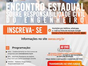 Encontro Estadual sobre Responsabilidade Civil do Engenheiro - dia 09/04/20