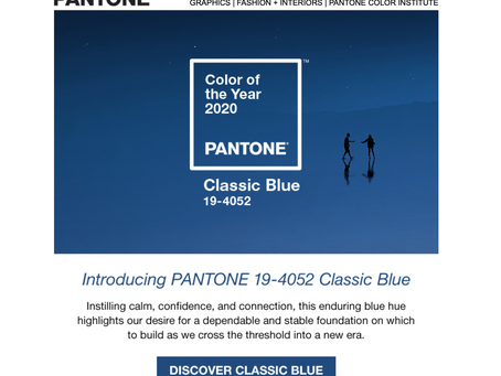 Is Classic Blue your colour of the year?