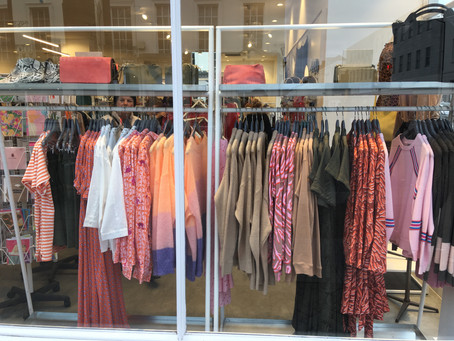 Pantone Living Coral seen across the Spring fashion palette