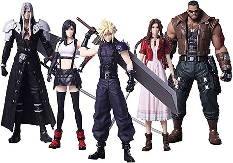 Final Fantasy VII REMAKE Figurines Trading Arts lot complet de 5