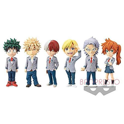 Izuku, Katsuki, Shoto, Neito, etc. Figurine World Collector lot de 6