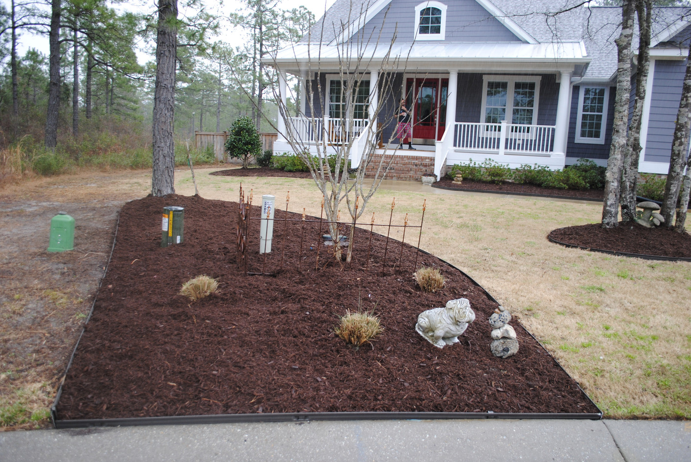 New edging really defines the look of the flower beds.