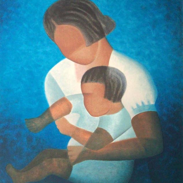 Le bambin dans les bras