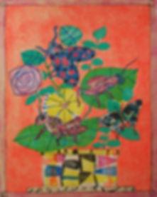 Bouquet aux insectes fond orange.jpg