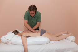 Dehnen der Rückenfaszien