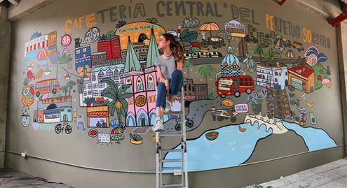 Mural Café Peso