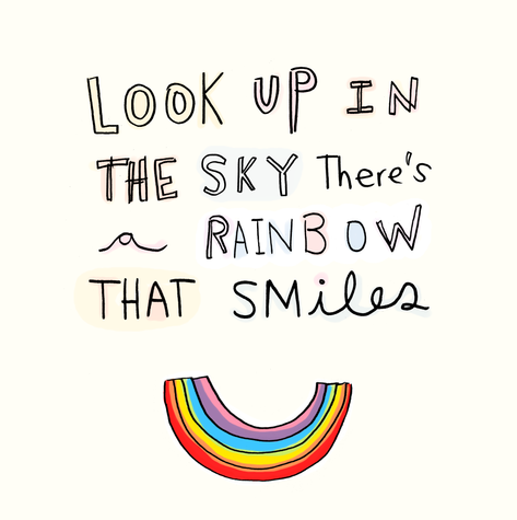 rainbow that smiles