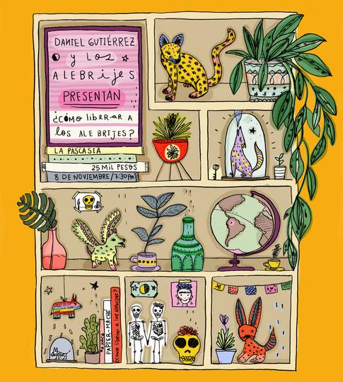 afiche Daniel Gutierrez y Los Alebrijes