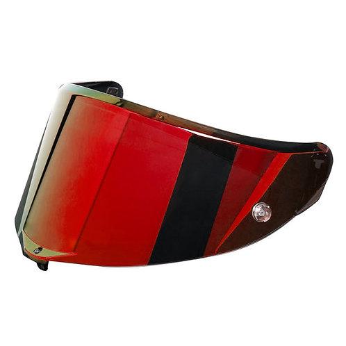 Race 3 護目鏡片 電鍍紅
