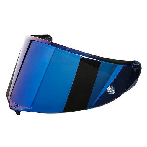 Race 3 護目鏡片 電鍍藍