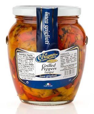 La Cerignola Di Una Volta - Grilled Pepper Stripes - 580 Ml - 19,40 Oz