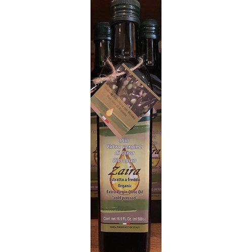 Zaira Organic extra virgin olive oil 500ML  from Molise Italy (Light)