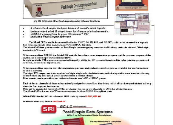 SRI Peak Simple Data System 302 6-Channel