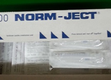 Norm-Ject Plastic Syringe 10mL Luer Slip Eccentric Tip 100pk