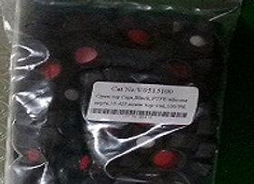 Blk 13mm Screw Caps / Septum whiteSil/RedTeflon, 100-pk