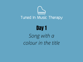Song Challenge: Day1 - Song with a colour in the title