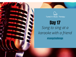 SONG CHALLENGE DAY 17: Song you'd sing as a duet at karaoke