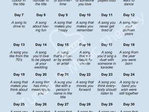 Song challenge is on!