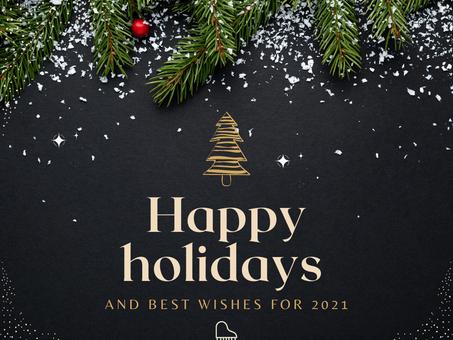 Happy holidays.... thank you 2020!