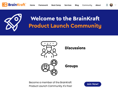 BrainKraft Product Launch Community is Live