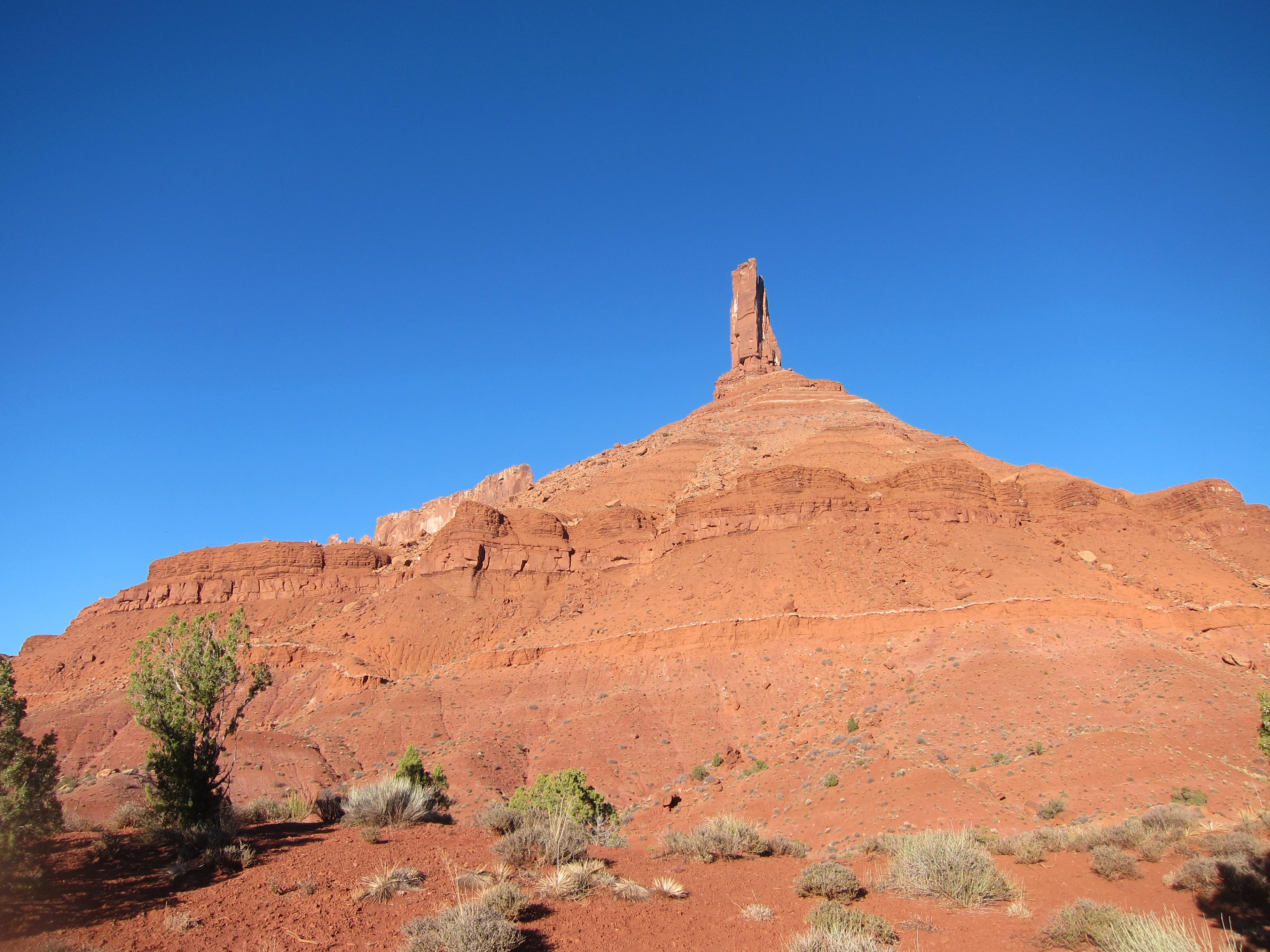 Climbing Castleton Tower, Utah