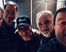 Avec les musiciens en studio