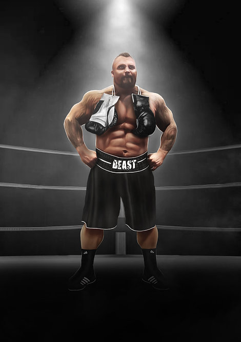 Signed: Beast in the ring