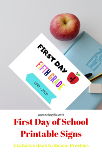picture about Printable Freebie called Initial Working day of the College Printable Freebie