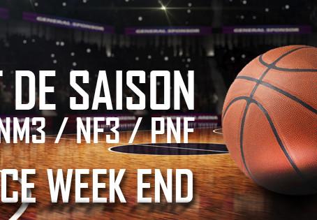 Début de saison ce week end pour les clubs de NM2/NM3/NF3/PNF