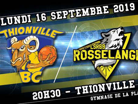 //Annonce vidéo // Match amical pour Thionville BC vs Rosselange