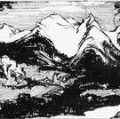 Landschaft bei Tarasp (Detail)