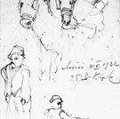 Skizze von Personen und Esel, 1922