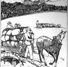Sommer (Heuernte mit Pferdewagen), um 1905