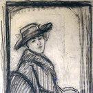 Frau mit Hut, 1912
