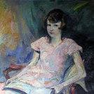 Lesendes Mädchen im Stuhl, 1925