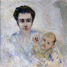 Bildnis Frau F. mit A., 1957