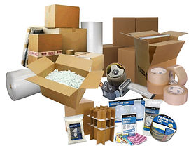 moving boxes, packing supplies